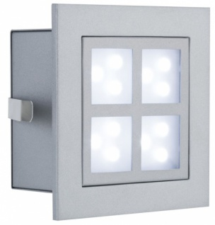 PAULMANN WAND EINBAULEUCHTE WINDOW 2 Alu matt IP23 1x2W LED 230V