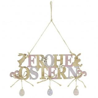 "Hänger ?Frohe Ostern"" aus Holz Deko Wand Tür Fenster Mobile Verzierung Osterdeko - Vorschau 1"