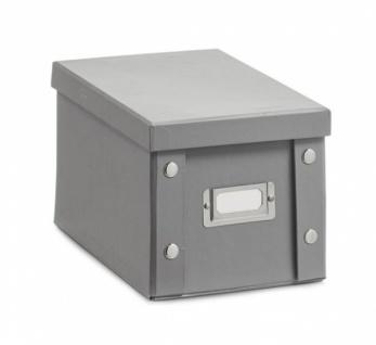 2x ZELLER CD BOX mit DECKEL grau für 20 CD's AUFBEWAHRUNG KISTE KARTON CASE