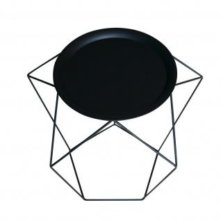 POTIRON Design Beistelltisch LOFT schwarz / schwarz Couch Blumen Tablett Tisch