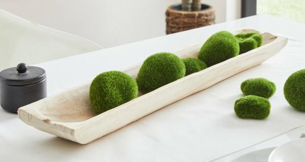 "Holz Schale "" Wood"", natur, 60 cm lang, Obst Servier Deko Kerzen Leiste Board"