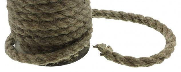 """3x 5m Deko Kordel """" Natur"""", braun, auf Holz Spule, Zier Schnur Seil Band 15 Meter - Vorschau 3"""