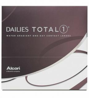 90 Dailies Total1 Tages Kontakt Linsen weich BC 8.5 DIA 14.1 +5, 75 MHD 07/18