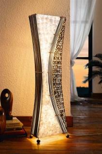 "Design Steh Leuchte "" Bali"", Muscheln + Bamubs, Handarbeit, Unikat, Deko Lampe"