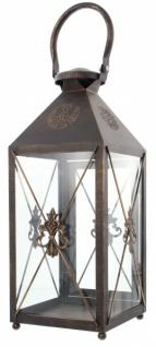 Laterne 'Iris? groß aus Metall, Deko, Garten Windlicht Kerzen Halter Ständer - Vorschau 3