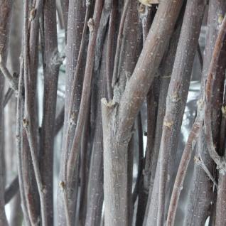 Windlicht 'Zweige? aus Glas & Weide & Holz Kerzen Ständer Teelicht Halter - Vorschau 4