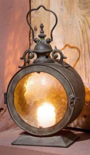 Metall Laterne BULLAUGE Antik Optik Windlicht Garten Lampe Kerzen Halter Ständer
