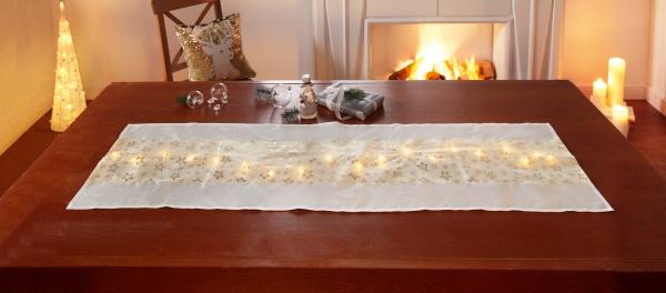 LED-Tischläufer 'Star Lights? 40x140 Tisch Deko Band Deko Weihnachten Fest Licht