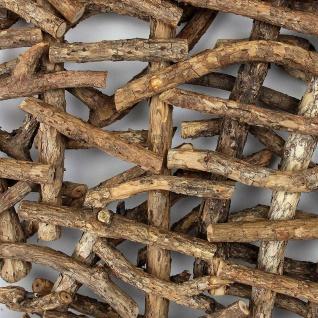 """Deko Objekt """" Rustikal"""" aus Rattan & Holz, Raumteiler Paravent Wand Bild Skulptur - Vorschau 5"""
