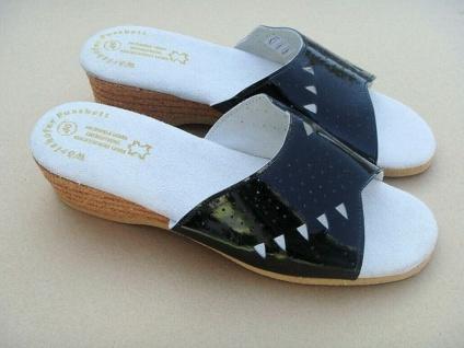 Damen Pantoletten, schwarz, Gr. 38, Sandalen Sandaletten Clogs Sommer Haus Schuh