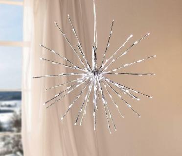 """Leucht Stern """" Silber"""" mit 160 LED, Ø 55 cm, Weihnachts Deko Außen Hänge Leuchte"""