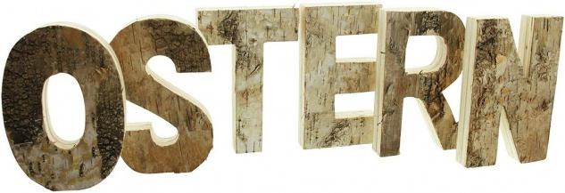 """Schriftzug ?Ostern"""" aus Holz 6 Deko Buchstaben Flur Haus Zimmer Tisch Dekoration - Vorschau 3"""
