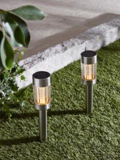 Solar Garten Leuchte 'Groove? mit Erdspieß Camping LED Lampe Stecker Deko