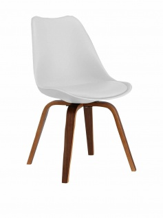 SuperStudio Design Stuhl CROSS, Holz / weiß, Wohnzimmer Esszimmer Küchen Sessel