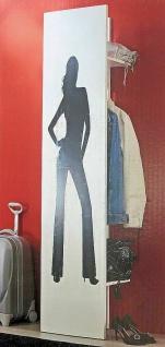 kleine Garderobe hochglanz weiß, Kleiderstange + 2 Ablagen, Wand Paneel 2.Wahl