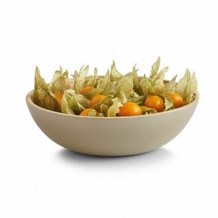 """Zeller Salat Schale """" Wood"""" aus Bambus Holz, Servier Obst Schüssel Bamboo Fiber"""