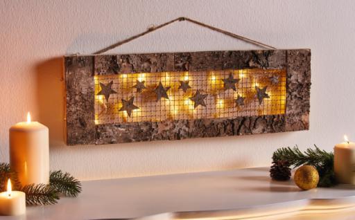 Deko Zu Weihnachten.Led Deko Sternenregen Aus Holz Innenbereich Stimmungs Licht Weihnachten