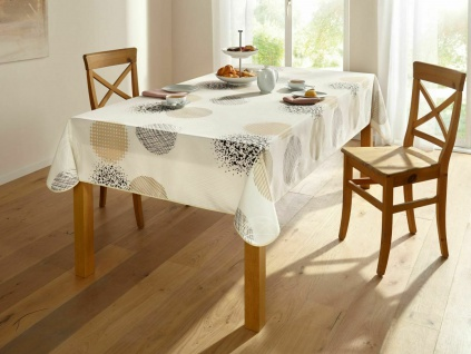 Tischdecke eckig 148x240 cm, creme, Lotuseffekt, abwaschbar, Tisch Wäsche Tuch