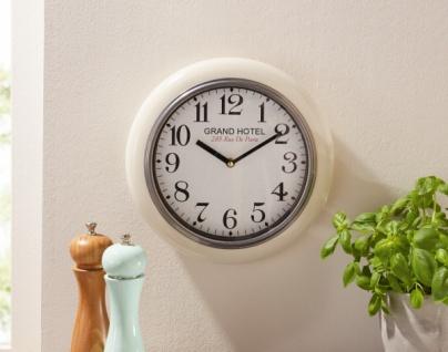 Wand Uhr 'Grand Hotel? aus Metall Glas Ø 29 Analog Küchenuhr Wohnzimmer Deko