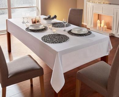 klassische Tafeldecke in weiß, eckig 140 x 240 cm, Tisch Tafel Decke Wäsche Tuch