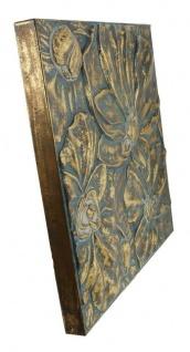 "Metall Bild ?Blumen"" bronze gold Wand Deko Schmuck Hänger Dekoration Verzierung"