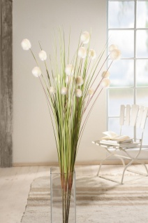 "Deko Bündel "" Blütenkugel"" 4er Set, 105 cm hoch, Kunst Gras Gräser Zweige Blumen"
