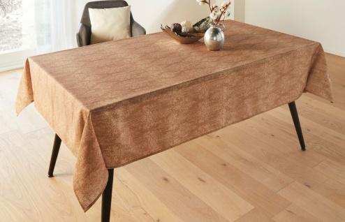 """Tafel Decke """" Ornament"""" 140x240 cm gold braun mit stilvollem Muster, Tisch Tuch"""