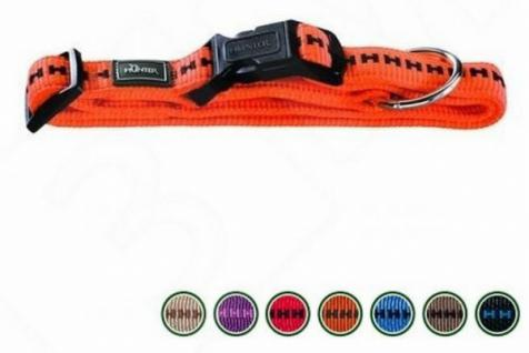 HUNTER NYLON HUNDE HALSBAND Power Grip Vario Plus blau Gr. M 40 - 55 cm HALSUNG