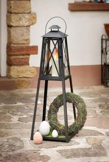"""Laterne """" Klassik"""" aus Metall & Glas, 105 cm hoch, Garten Windlicht Kerzen Halter"""