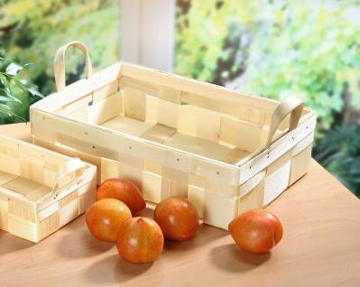 Obst Korb auf Holz Span, 34x23 cm, Sammel Ernte Pilz Geschenk Oster Körbchen - Vorschau 1
