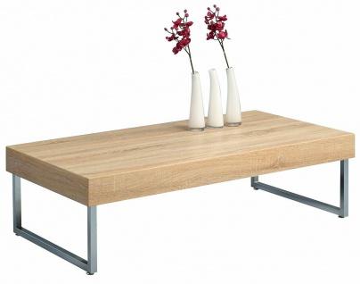 HomeTrends4You Design Couchtisch 120x65 cm, Sonoma Eiche, Beistell Sofa Tisch