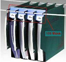 125x ACCO TWINLOCK Abstandhalter 50mm für Hänge Register / Ordner / Mappen NEU