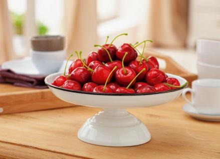 20 Deko Kischen rot aus Styropor, Streu Teile künstliches Kunst Obst DIY Basteln