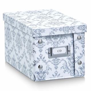 """2x ZELLER CD BOX mit DECKEL """" Vintage"""" für 20 CD's AUFBEWAHRUNG KISTE KARTON CASE"""