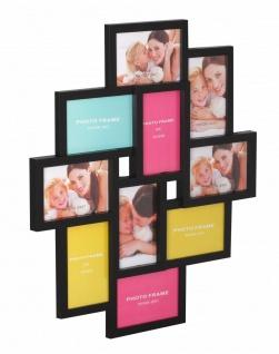 WL Wohnling Bilder Rahmen schwarz, für 10 Foto 10x15, Wand Multi Galerie Collage
