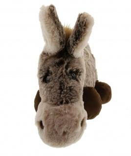 """Plüsch Esel """" Pablo"""" 37 cm hoch, grau / braun, Kuschel Spiel Stoff Tier Figur - Vorschau 5"""