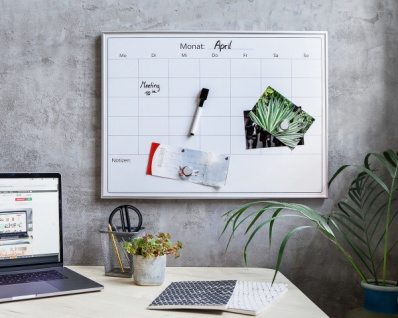 4tlg. Wochenplaner 'Notizen? Monatsplaner Whiteboard Magnet Tafel Board Wand