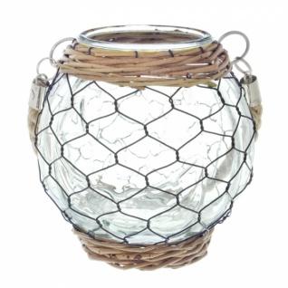 deko glas 39 drahtgeflecht gross windlicht kerzen teelicht halter st nder tisch kaufen bei. Black Bedroom Furniture Sets. Home Design Ideas