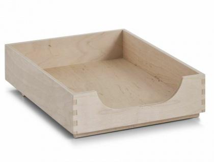 Zeller BRIEF ABLAGE aus Holz DOKUMENTEN SCHREIBTISCH ORGANIZER SYSTEM KORB BOX