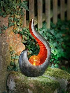 "Solar LED Deko ?Flamme"" Garten Aussen Leuchte Lampe Skulptur Figur Objekt"