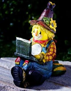 SOLAR LEUCHTE Clown mit Notebook GARTEN WEG BELEUCHTUNG LAMPE LICHT