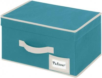 """Stoff Aufbewahrungs Box """" Breeze S"""" petrol, Regal Kleider Schrank Ordnungs Kiste"""