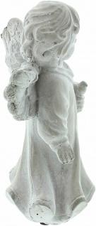 """Engel Figur """" Vogelfreund"""" 19x9x20 cm Grab Schmuck Christlich Heaven Tisch Deko - Vorschau 4"""