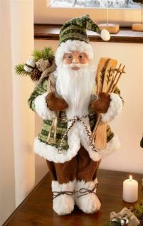 """Santa Claus Figur """" Green"""" 46 cm hoch Deko Weihnachtsmann Nikolaus Christkind"""