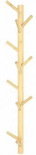 """Flur Wand Garderobe """" Bambus"""" mit 11 Haken Vintage Natur Massiv Holz Leiste braun - Vorschau 2"""