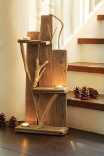 Treibholzdeko 'Rustikal? Holz Deko Objekt Weihnachten Kerzen Halter Ständer