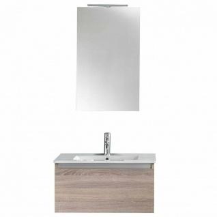 ital. Design Bad Möbel Set IBIZA Waschbecken + Unterschrank Spiegel Beleuchtung