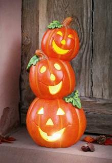 "Halloween LED Kürbis "" Turm"" 46 cm hoch, Herbst Deko Beleuchtung Laterne"