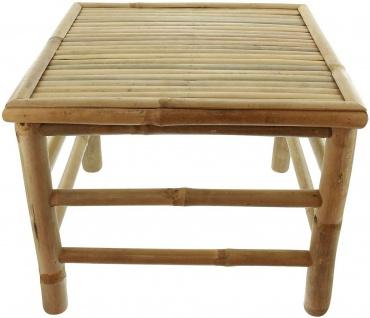 """Beistell Tisch """" Tropical"""" aus Bambus Holz, 47x47 cm, Balkon Garten Couch Sofa"""