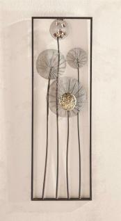 """3D Wand Bild """" Flowers"""" aus Metall, 30x90 cm, Wand Schmuck Deko Verzierung Blumen"""